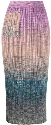 Missoni Colour-Block Midi Skirt