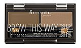 Rimmel Brow This Way Sculpting Kit, Blonde, 0.04 Ounce