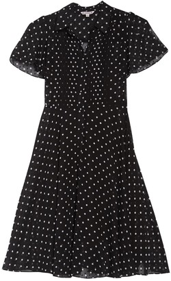 Nanette Lepore Polka Dot Pintuck Dress