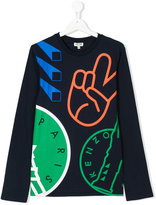 Kenzo teen long sleeve printed T-shirt - kids - Cotton - 14 yrs