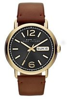 Marc by Marc Jacobs Men's MBM5077 Fergus Gold-Tone Stainless Steel Watch with Brown Leather Band