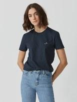 Frank + Oak The Made in Canada Signature T-Shirt in Dark Saphire