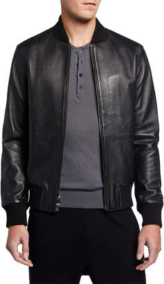 Neiman Marcus Men's Leather Bomber Jacket