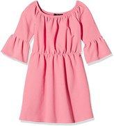 Blush Lingerie Girl's Elasticated Bardot Frilled Sleeve Plain Dress