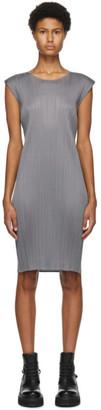 Pleats Please Issey Miyake Grey Basics Short Dress