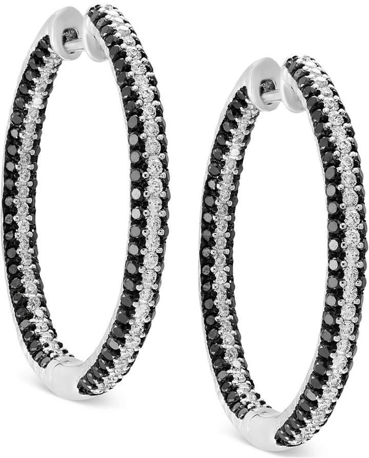 Effy Diamond In & Out Hoop Earrings (2 ct. t.w.) in 14k White Gold