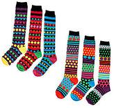 LittleMissMatched Little MissMatched little missmatched 6-pack Zany Stripe Icon Knee High Sock