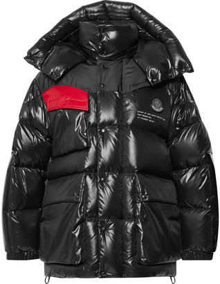 MONCLER GENIUS 7 Moncler Fragment Nieuport Hooded Canvas-Panelled Quilted Shell Down Jacket