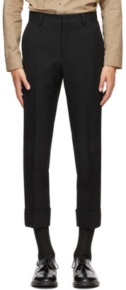 Solid Homme Black Twill Trousers