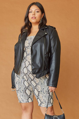 Forever 21 Plus Size Faux Leather Moto Jacket