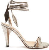 Chloé Mike wraparound crackled-leather sandals