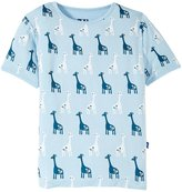 Kickee Pants Graphic Tee (Toddler/Kid) - Pond Giraffe - 6 Years