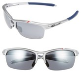 Oakley Women's Rpm 62Mm Square Semi Rimless Sunglasses - Silver/ Black Iridium