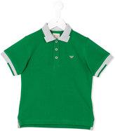 Armani Junior contrast collar polo shirt - kids - Cotton - 4 yrs