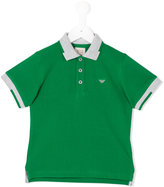 Armani Junior contrast collar polo shirt - kids - Cotton - 8 yrs