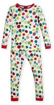 BedHead Printed Two-Piece Pajama Set, Cream, Size 10-12