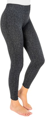 Muk Luks Women's Fleece-Lined Faux Denim Leggings