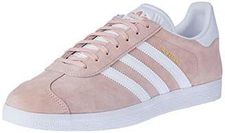 adidas Unisex Adults' Gazelle Gymnastics Shoes, Pink (Vapour Pink/White/Gold Metallic), 47 1/3 EU