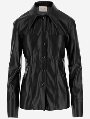 Nanushka Tippi Faux-Leather Shirt