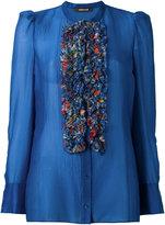 Roberto Cavalli ruffled bib blouse
