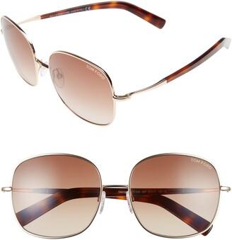Tom Ford Round 57mm Sunglasses