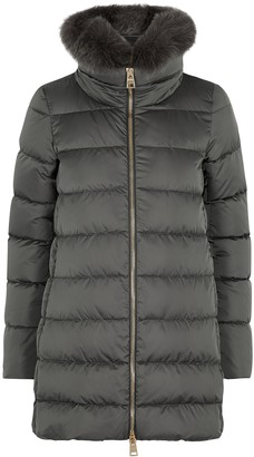 Herno Dark Grey Quilted Shell Coat