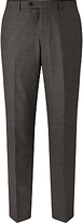John Lewis Super 100s Wool Milled Textured Weave Tailored Suit Trousers, Grey