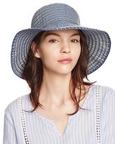 Aqua Denim Ribbon Cloche Hat - 100% Exclusive