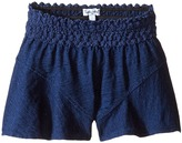 Splendid Littles Indigo Lace Waistband Shorts (Toddler)