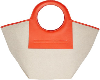 Hereu Small Cala Leather-Trimmed Canvas Tote