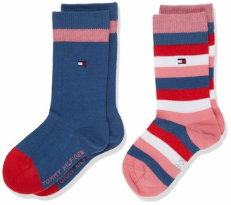Tommy Hilfiger Girls' TH Kids Basic Stripe Sock 2P
