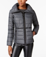 MICHAEL Michael Kors Petite Contrast-Trim Packable Puffer Coat