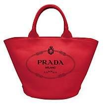 Prada Women's Small Canvas Shopper