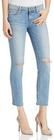 Paige Miki Straight Jeans in Bella Destructed