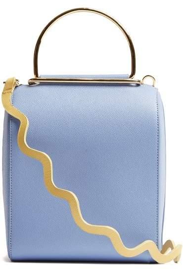 Roksanda Besa Top Handle Leather Shoulder Bag - Womens - Light Blue