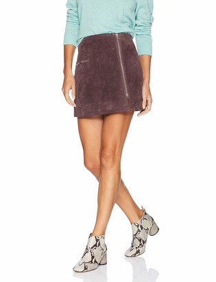 Blank NYC Women's Real Suede Mini Skirt Skirt