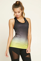 Forever 21 Active Dip-Dye Grid Tank Top