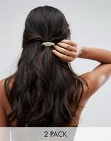 Orelia Metallic Leaf Hair Ties