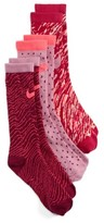 Nike Girl's 3-Pack Graphic Crew Socks