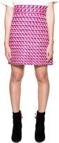MSGM Pink/purple Wool Tweed Skirt