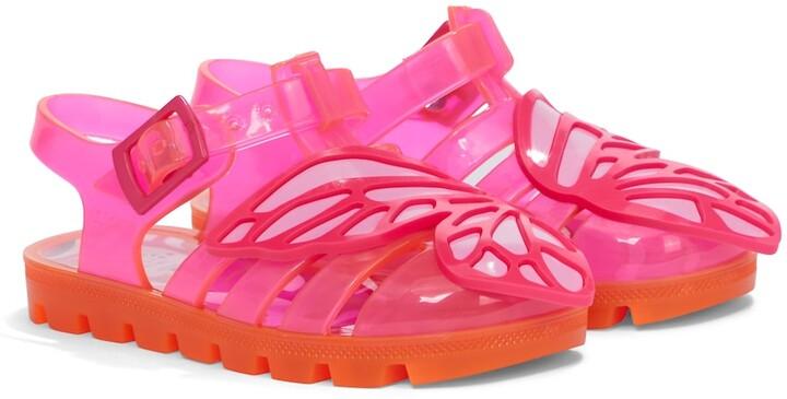 Sophia Webster Mini Butterfly rubber sandals