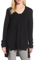 Eileen Fisher Petite Women's High/low Merino Wool Sweater