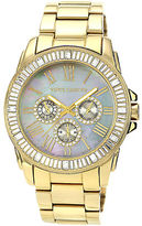 Vince Camuto Ladies Goldtone and Swarovski Crystal Baguette Bracelet Watch