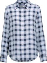 Equipment Brett plaid washed-silk shirt