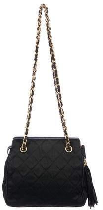 Chanel Satin Tassel Bag