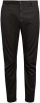 Lanvin Pinstriped biker trousers