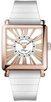 Franck Muller Master Square Playa 18k Rose Gold Watch on White Rubber Strap