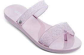 Melissa Women's Love Lip Spa Bubble Gum Scented Glitter Slide Sandals