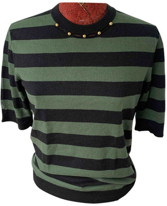 Louis Vuitton Green Cotton Knitwear