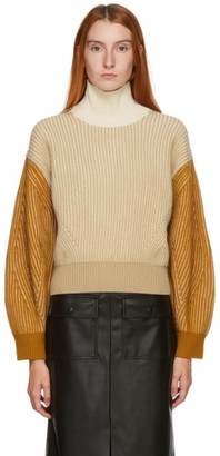 Kenzo Beige and Brown Fisherman Turtleneck